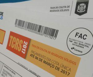 TCRS - Taxa de Coleta de Lixo - Resíduos Sólidos - Florianópolis